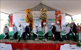 Bình Thuận khởi công dự án nhà máy điện mặt trời Sông Lũy 1