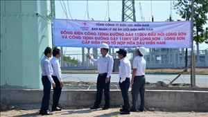 Đóng điện đường dây 110kV cấp điện cho Tổ hợp hóa dầu miền Nam