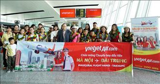 Vietjet khai trương chuyến bay Hà Nội – Đài Trung (Đài Loan)