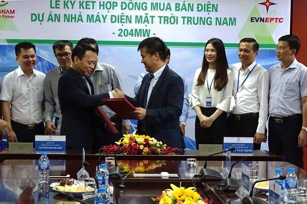 EVN kết hợp đồng mua bán điện với Trung Nam