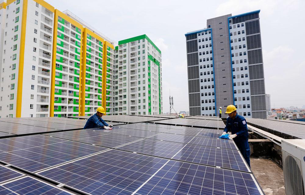 Hỗ trợ, tư vấn thiết kế sử dụng điện mặt trời nối lưới cho các tòa nhà ở TPHCM